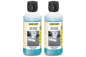2PK Karcher 500ml Biodegradable Multi-Purpose Liquid Cleaner for All Hard Floors