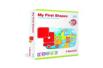 Scotchi My First Shapes Toddlers/Kids Educational Game/Toy Activity Boards 18m+