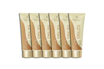 6x Australian Creams 100g Emu Oil Moisturising Hydrating Cream w/Vitamin E