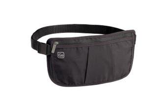 Go Travel Concealed Money Minder Lightweight Waist Bag Belt Pouch/Wallet Black