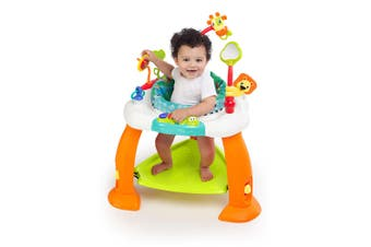 Bright Starts Adjustable Bouncing Bouncer Baby/Infant w/ 360 Seat/Toys 6-12m