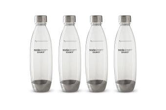 4x SodaStream Carbonating 1L Bottle for Drink Maker Play/Spirit/Source Metal