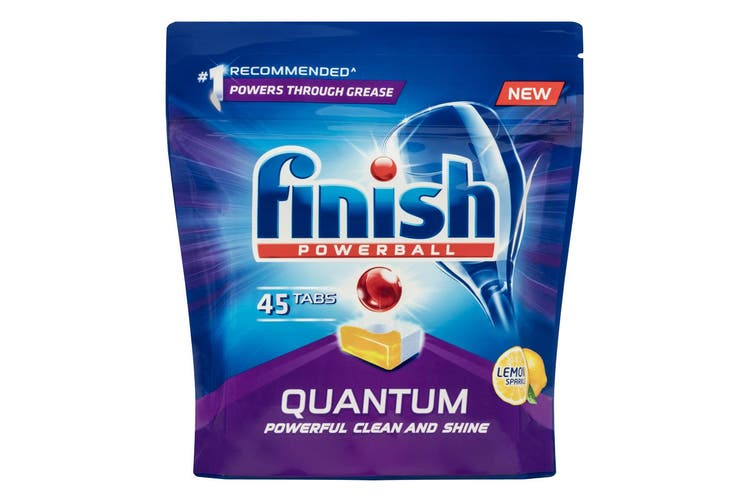 5x 45PK Finish Powerball Tab Lemon Sparkle Quantum Dishwasher/Dishwashing Tablet