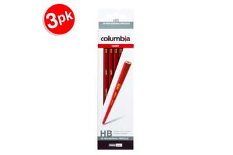 3x 20pc Columbia Kids/Adults Cadet Range HB Drawing/Writing Hexagonal Pencils