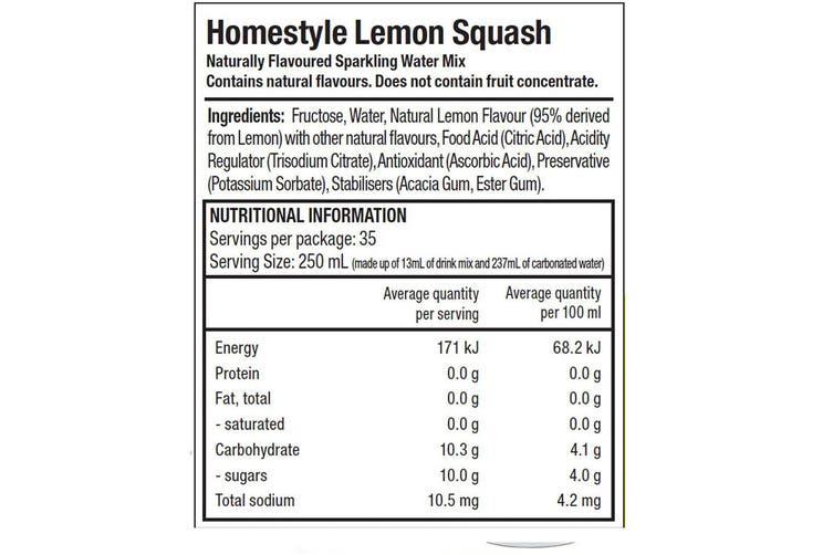 SodaStream Classic Summer Lemon Squash 440ml/Sparkling Soda Water Syrup Mix
