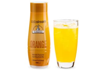 SodaStream Classics Orange 440ml/Sparkling Soda Water Syrup Drink Mix/Makes 9L