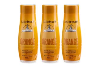 3x SodaStream Classics Orange 440ml/Sparkling Soda Water Syrup Drink Mix
