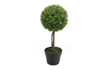Potted Artificial 58cm Boxwood Topiary Tree Faux Plastic Plant Home Decor Green