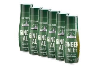 6x SodaStream Classics Ginger Ale 440ml/Sparkling Soda Water Syrup Drink Mix
