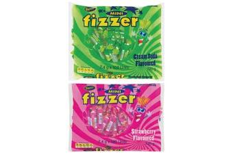 200pc Beacon Mini Fizzer 1.4kg Fruity Chewy Candy/Lolly Strawberry & Cream Soda