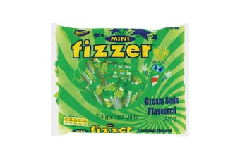 100pc Beacon Mini Fizzer 740g Fruity Chewy Confectionery Candy/Lolly Cream Soda