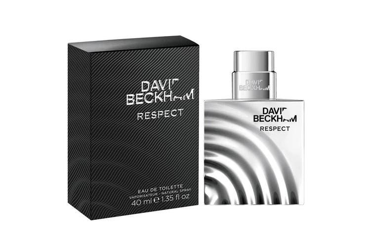 David Beckham 40ml Respect EDT/Eau De Toilette Fragrances/Natural Spray Men