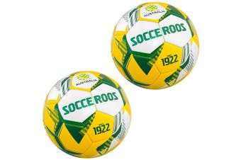 2x Summit Global Heritage Socceroos Soccer/Football Sports Training Ball Size 1