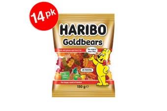 14PK Haribo Goldbears 2.1 kg Confectionery Candy Gummy Bear Soft Lolly