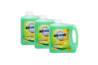 3x Northfork 2L Biodegradeable Dishwashing Dishes Concentrated Liquid/Soap Lemon