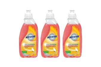 3x Northfork 375ml Biodegradeable Dishwashing Dishes Concentrated Liquid/Soap