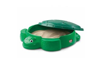Little Tikes Turtle Sandbox Kids Outdoor Sand Pit Play/Game Toy w/ Cover Green