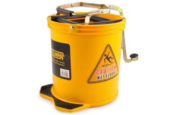 Pullman 16L Floor Mop Replacement Bucket Heavy Duty/Lightweight Plastic Yellow