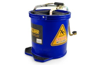 Pullman 16L Floor Mop Replacement Bucket Heavy Duty/Lightweight Plastic Blue