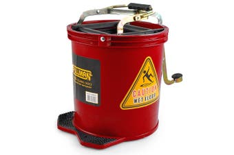 Pullman 16L Floor Mop Replacement Bucket Heavy Duty/Lightweight Plastic Red