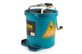 Pullman 16L Floor Mop Replacement Bucket Heavy Duty/Lightweight Plastic Green