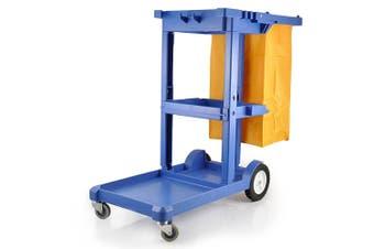 Pullman Multifunction Commercial Cleaning Cart/Trolley w/ Shelves/Wheels/Bin Bag