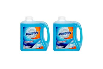 2x Northfork 2L Glass/Window Cleaning Liquid for Home Mirror/Car Windscreen