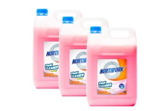 3x Northfork 5L Floor/Tiles Cleaning/Cleaner Dirt/Grease Remover w/ Ammonia