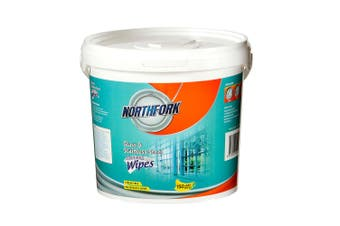 150pc Northfork Wet Wipes Tub for Glass & Stainless Steel Appliances/Cooktop