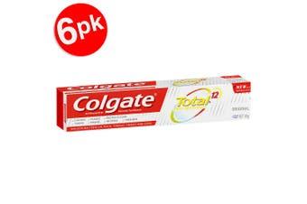 6x Colgate Total 40g Antibacterial Fluoride Toothpaste f/Cavities/Plaque/Enamel