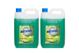 2x Northfork 5L Biodegradeable GECA Dishwashing Dishes Concentrate Liquid/Soap