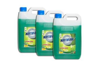 3x Northfork 5L Biodegradeable GECA Dishwashing Dishes Concentrate Liquid/Soap