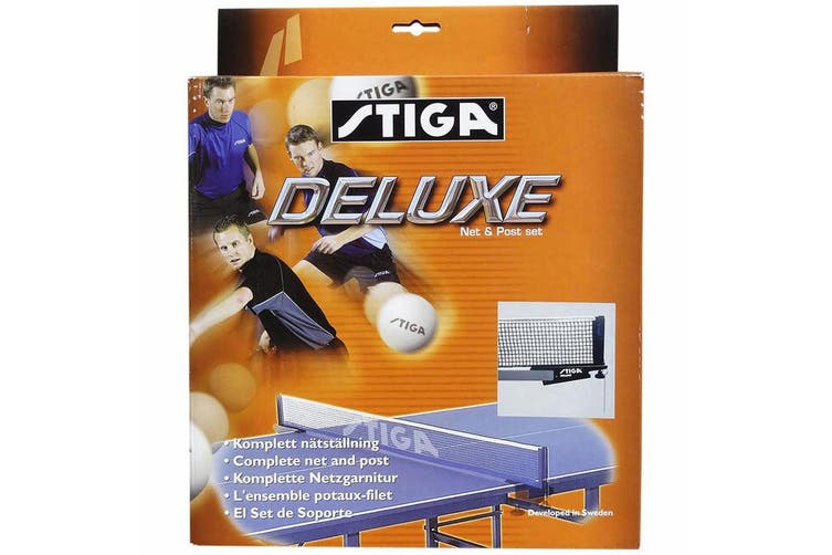 2x Stiga Deluxe Net & Post w/ Clamp On f/ Table Tennis/Ping Pong Game Table Set