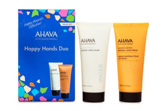 2pc Ahava Happy Hands 100ml Hand Moisturiser Cream Skin Care Dead Sea Water
