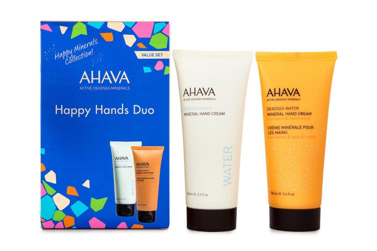 4pc Ahava Happy Hands 100ml Hand Moisturiser Cream Skin Care Dead Sea Water