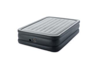 Intex Dura-Beam Essential Rest Queen Inflatable Mattress Airbed w/Electric Pump