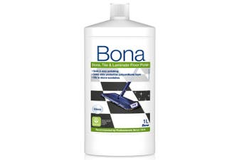 Bona 1L Stone Tile and Laminate Polish Protective Floor Polisher Gloss Finish