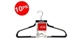10x 3PK Box Sweden Anti-Slip Hangers Organiser Clothing Wardrobe Hanger Assorted