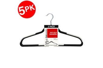 5x 3PK Box Sweden Anti-Slip Hangers Organiser Clothing Wardrobe Hanger Assorted