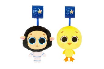 2pc Little Tikes Musical Minis Baby 6m+ Car/Pram Toy Dylan Duck/BaaBaa the Sheep