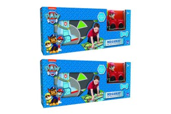 "2PK Paw Patrol 31.5"" x 27.5"" Megamat Playmat Kids Toys w/ Assorted Vehicle Car"