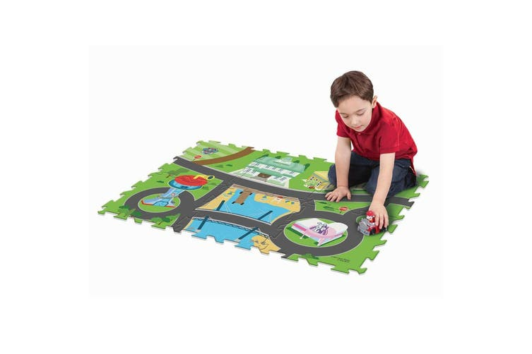 "Paw Patrol 28"" x 19"" Megamat/Playmat Playset w/ 1 Assorted Vehicle Toy Kids 3y+"
