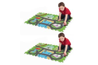 "2x Paw Patrol 28"" x 19"" Megamat/Playmat Playset w/ Assorted Vehicle Toy Kids 3y+"
