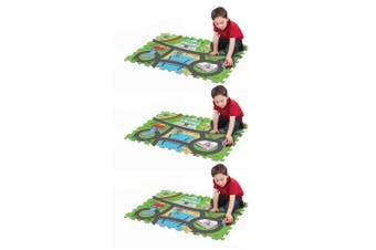 "3x Paw Patrol 28"" x 19"" Megamat/Playmat Playset w/ Assorted Vehicle Toy Kids 3y+"