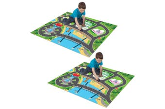 2x Paw Patrol Foam Megamat/Playmats/Playset 61in x 47in w/ Asst Vehicle Kids 3y+