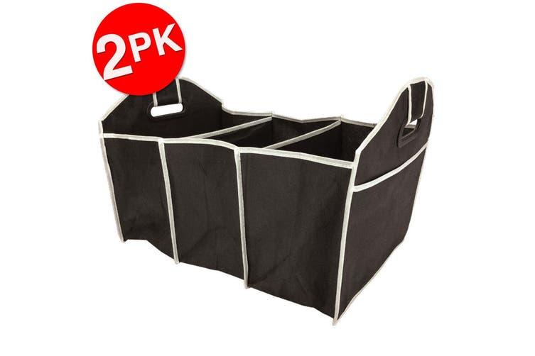 2PK Box Sweden Car Boot/Trunk Organiser Shopping Foldable Storage Bag Assorted