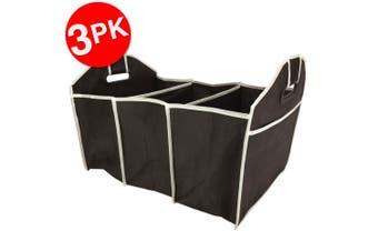 3PK Box Sweden Car Boot/Trunk Organiser Shopping Foldable Storage Bag Assorted