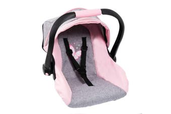 Bayer 52cm Car Capsule Carrier Toy for 46cm Dolls Butterfly Kids 3y+ Grey/Pink