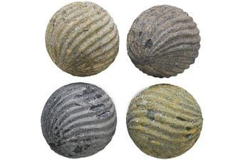 4pc Nirvana Decorative Balls Stoneware 9.5cm Dining Table Home Decor Assorted