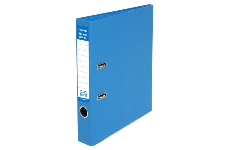 4x ColourHide A4 50mm 250 Sheets Half Lever Arch Binder/File Office Organiser BL